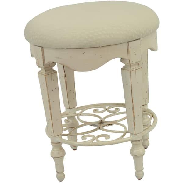 Fabulous Shop Safavieh Melissa Antique White Vanity Stool Free Alphanode Cool Chair Designs And Ideas Alphanodeonline