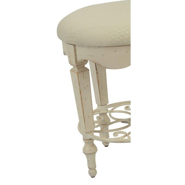 Miraculous Shop Safavieh Melissa Antique White Vanity Stool Free Alphanode Cool Chair Designs And Ideas Alphanodeonline