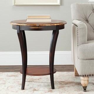 Safavieh Harrison Beidermeir Dark Brown Round Side Table