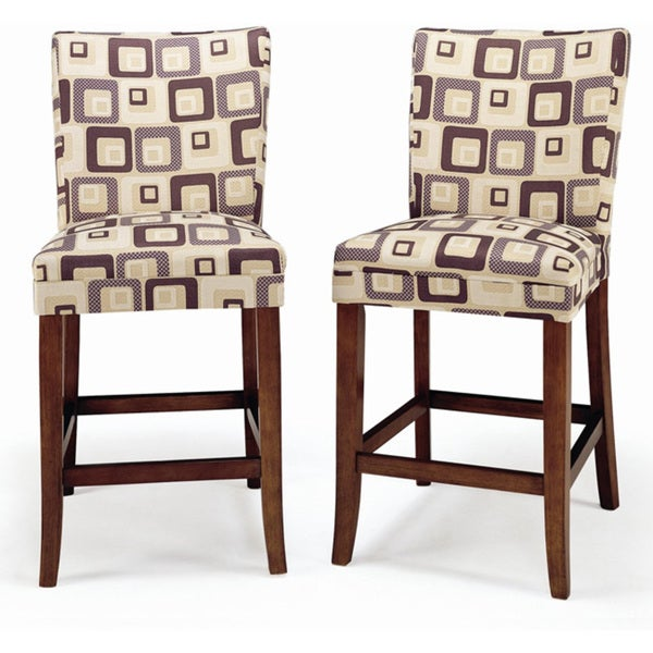 Parson Brick Upholstered Pub Stools (Set of 2)