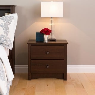 Laurel Creek Edward Espresso 2-drawer Nightstand