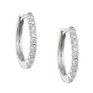 14k White Gold 1/5ct TDW Diamond Hoop Earrings|https://ak1.ostkcdn.com/images/products/3918211/P11961266.jpg?impolicy=medium