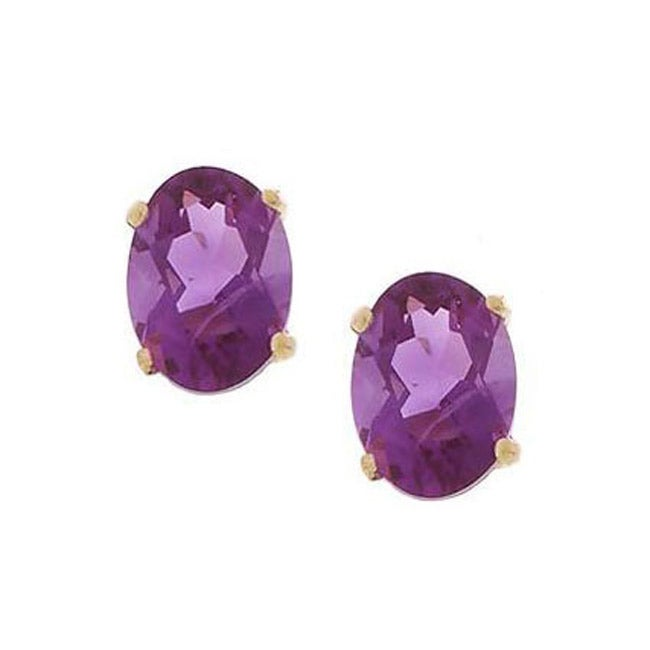 emerald amethyst stud jewelry fine earrings silver amoro cut sterling carat