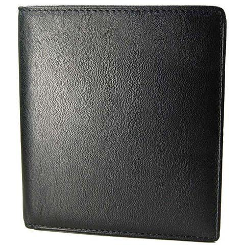 Castello Romano Men's Hipster Black Italian Leather Wallet