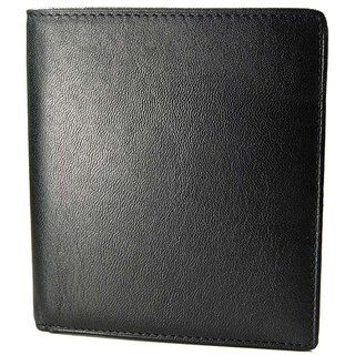 Castello Romano Men's Hipster Black Italian Leather Wallet