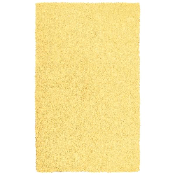 Yellow Chenille Shag Rug (4' x 6')
