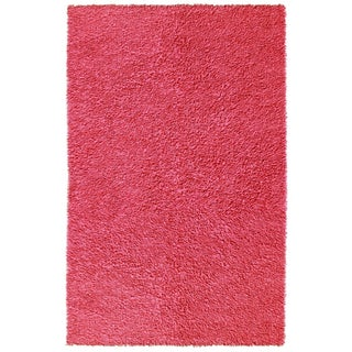 Pink Chenille Shag Rug (4' x 6')