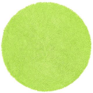 Chenille Green Shag Rug (5' Round)