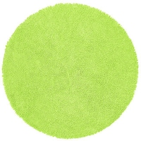 Chenille Green Shag Rug - 5' Round