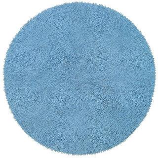 Chenille Blue Shag Rug (5' Round)