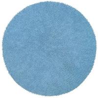 Chenille Blue Shag Rug (5' Round) - 5' x 5'