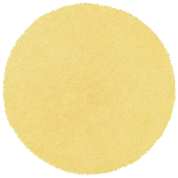 Yellow Shag Rug (5' Round)