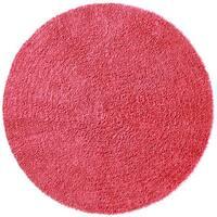 Chenille Pink Shag Rug - 5' Round