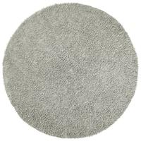 Chenille Grey Shag Rug - 5' Round