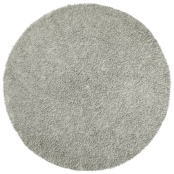 Chenille Gray Shag Rug 5 Round Free Shipping Today