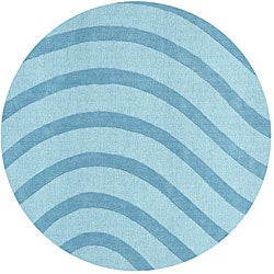 Thumbnail 1, Blue Waves Rug - 6'.