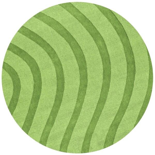 Green Waves Rug - 6'