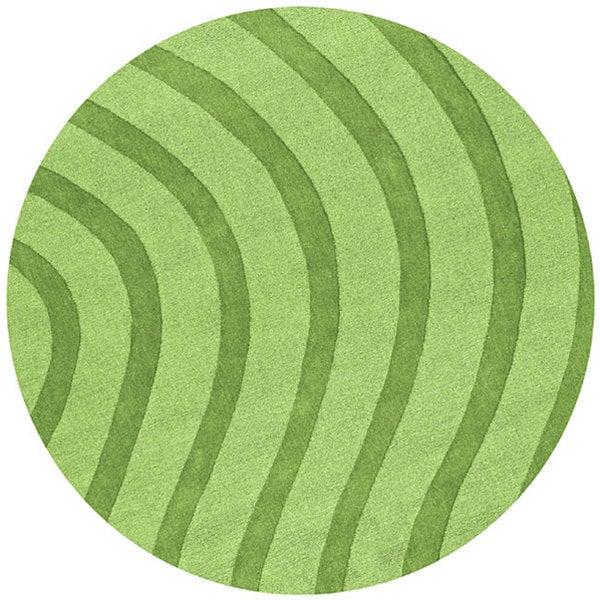 Green Waves Rug (6' Round)