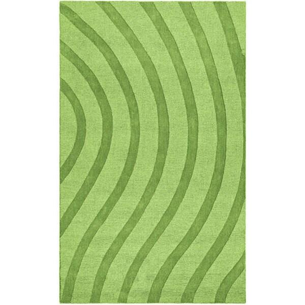 Elite Wave Green Wool Rug - 8' x 10'