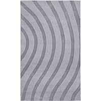 Elite Wave Grey Wool Rug - 8' x 10'