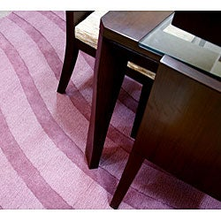 Purple Wool Waves Rug (8' Round) - Thumbnail 1
