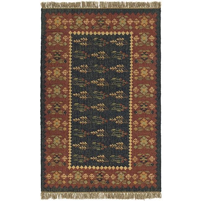 Prescott Flat-woven Wool Rug (5' x 8')