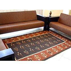 Prescott Flat-woven Wool Rug (5' x 8') - Thumbnail 1