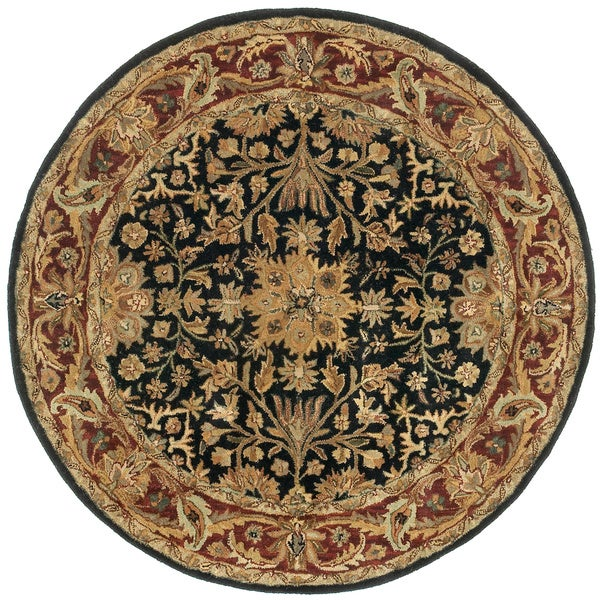 Elite Black/ Burgundy Rug (6' Round)