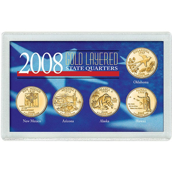 American Coin Treasures 2008 Gold-layered Statehood Quarters