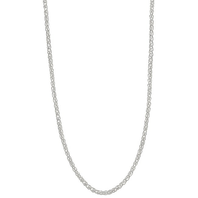 Sterling Essentials Sterling Silver 18-inch Italian Wheat Chain (1.5mm)