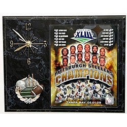 2009 Superbowl Champions Picture Plaque with Clock - Thumbnail 0