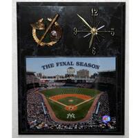 Yankee Stadium Final Season Picture Clock Plaque