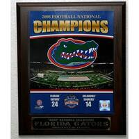 2009 University of Florida Gators National Champions Picture Plaque