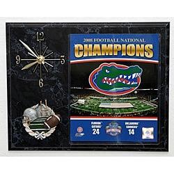 2009 UF Gators National Champions Football Picture Clock