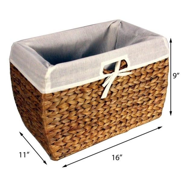 Shop Seagrass File Basket with Liner Overstock 3927293