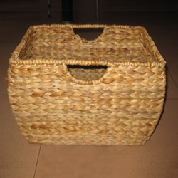 Seagrass File Basket with Liner - Thumbnail 1