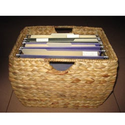 Seagrass File Basket with Liner  sc 1 st  Overstock.com & Shop Rattan 3-drawer File Cabinet - Free Shipping Today - Overstock ...