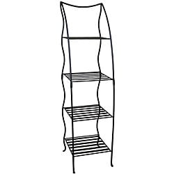 Iron Black 4-layer Plant Stand