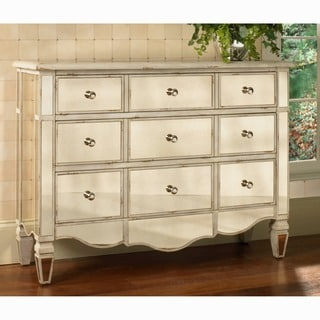 Hand Painted Mirrored Drawer Accent Chest