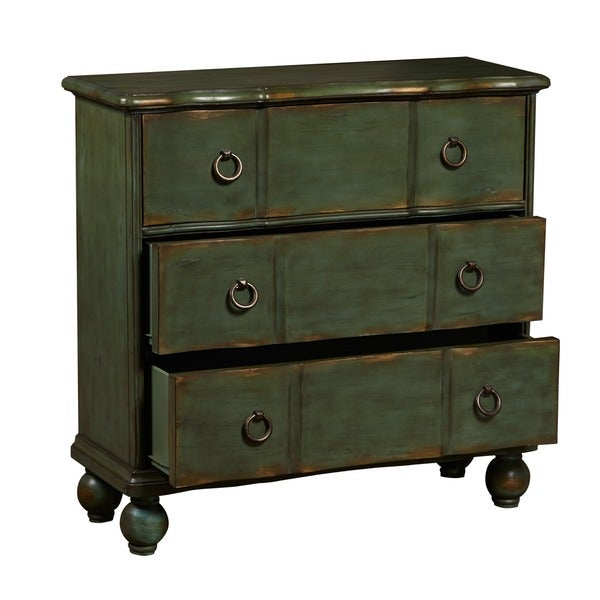 High Quality Hand Painted Distressed Blue/Green Accent Chest   Free Shipping Today    Overstock.com   11968407