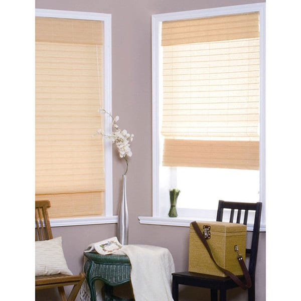 Chicology Serenity Apricot Roman Shade (48 in. x 72 in.)