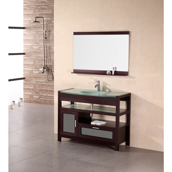 design element solid wood bathroom vanity set - free shipping