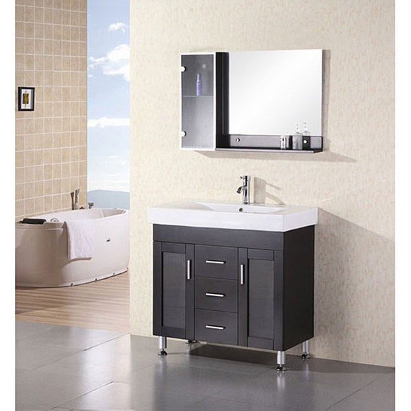 design element contemporary italian bathroom vanity set - free