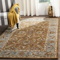 Safavieh Handmade Heritage Timeless Traditional Brown/ Blue Wool Rug (9'6 x 13'6)