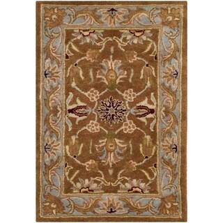 Safavieh Handmade Heritage Timeless Traditional Brown/ Blue Wool Rug - 2' x 3'