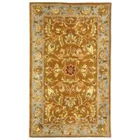 Safavieh Handmade Heritage Timeless Traditional Brown/ Blue Wool Rug - 3' x 5'