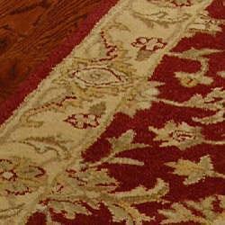 Safavieh Handmade Antiquities Jewel Red/ Ivory Wool Runner (2'3 x 14')
