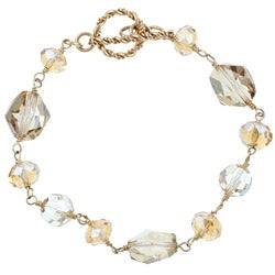 Lola's Jewelry Goldfill Champagne Crystal Bracelet