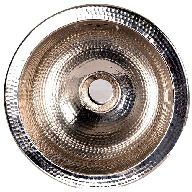 Round 12-inch Round Hammered Nickel Sink