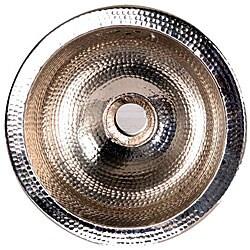 Round 12-inch Round Hammered Nickel Sink